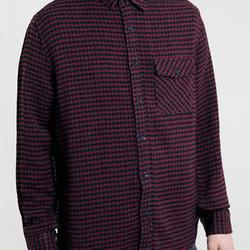 3c4f87d3d9b45 Acacia Brinley. Products Featured. TOPMAN BURGUNDY DOGSTOOTH LONG SLEEVE  SHIRT