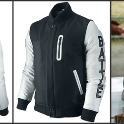 45168a17792 Michael B Jordan Kobe Destroyer XXIV Jacket - Battle Letterman Leather  sleeves
