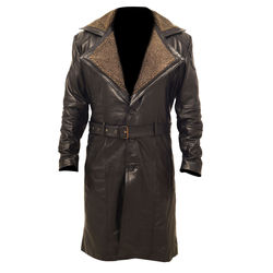 Blade Runner 2049 Ryan Gosling Officer K Fur Lapel Collar Trench Leather Coat