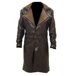9539a9911 Ryan Gosling Blade Runner Officer K Fur Lapel Collar Trench Leather Coat