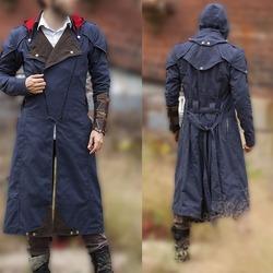 493b99076 xtreemleather Assassin's Creed Unity Arno Victor Dorian Denim Cloak Cosplay  Coat Hoodie Jacket