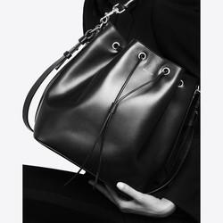 Yves Saint Laurent Saint Laurent Medium EMMANUELLE BUCKET BAG IN ...