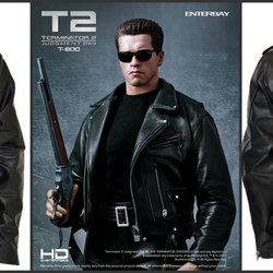 5407d5dce Terminator 2 Judgment Day Arnold Genuine Leather Jacket