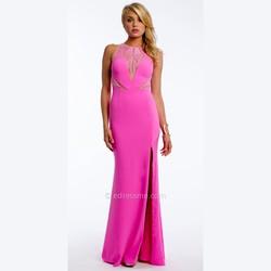 8631d7466e Camille La Vie Crepe Plunge Caviar Bead Prom Dress by Camille La Vie ...