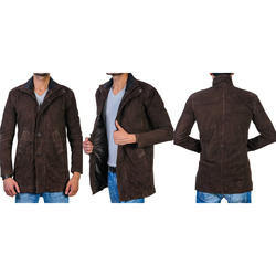 bf790f588 Longmire Robert Sheriff Brown Real Suede Leather Coat Jacket