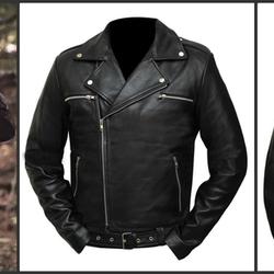 0cfcea9c9 The Walking Dead Season 7 Black Negan Leather Jacket