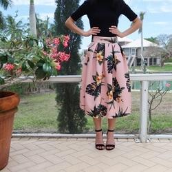 custom best value really comfortable ASOS PETITE ASOS PETITE Scuba Midi Prom Skirt in Lily Print