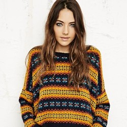 Urban Outfitters BDG Fair Isle Pop Crop Sweater at Urban ...