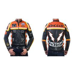 e666fa7d2 HDMM Mickey Rourke Marlboro Mens Genuine Cowhide Vintage Biker Leather  Jacket